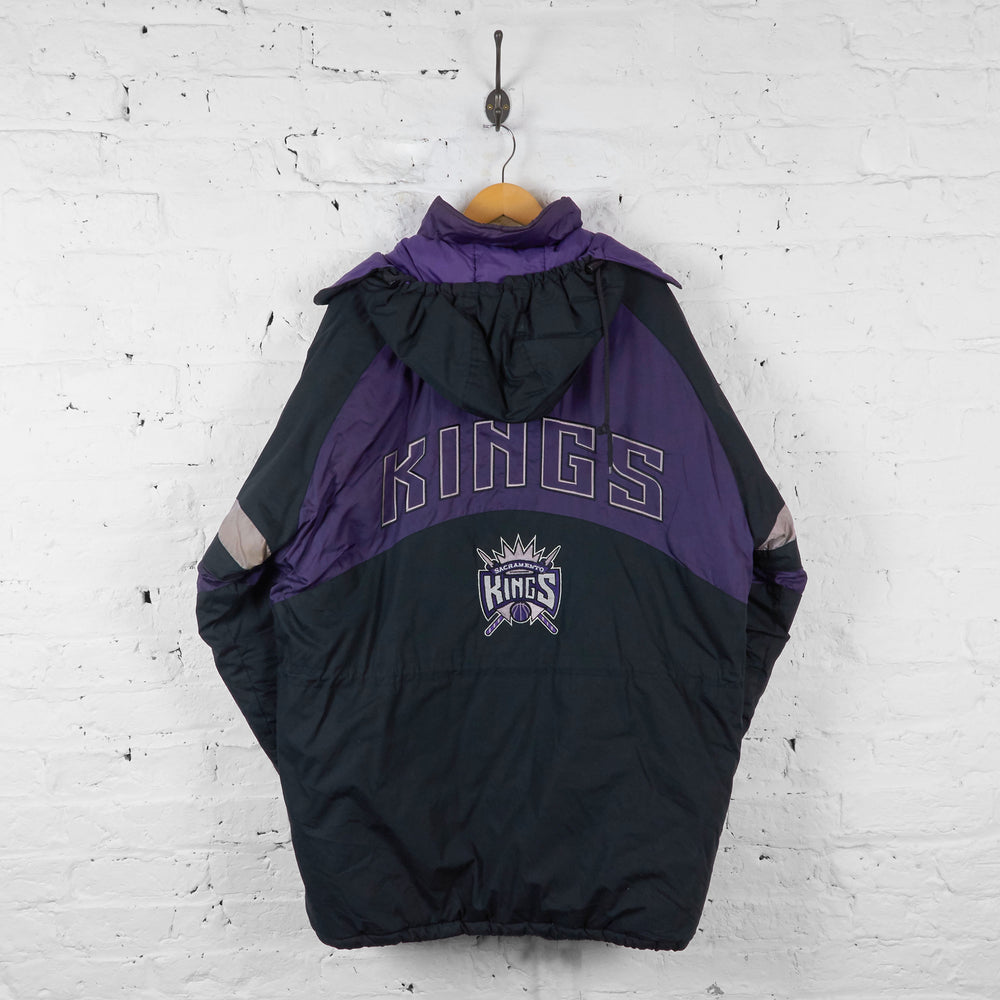 Vintage Sacramento Kings NBA Padded Jacket - Black/Black/Grey - XL - Headlock