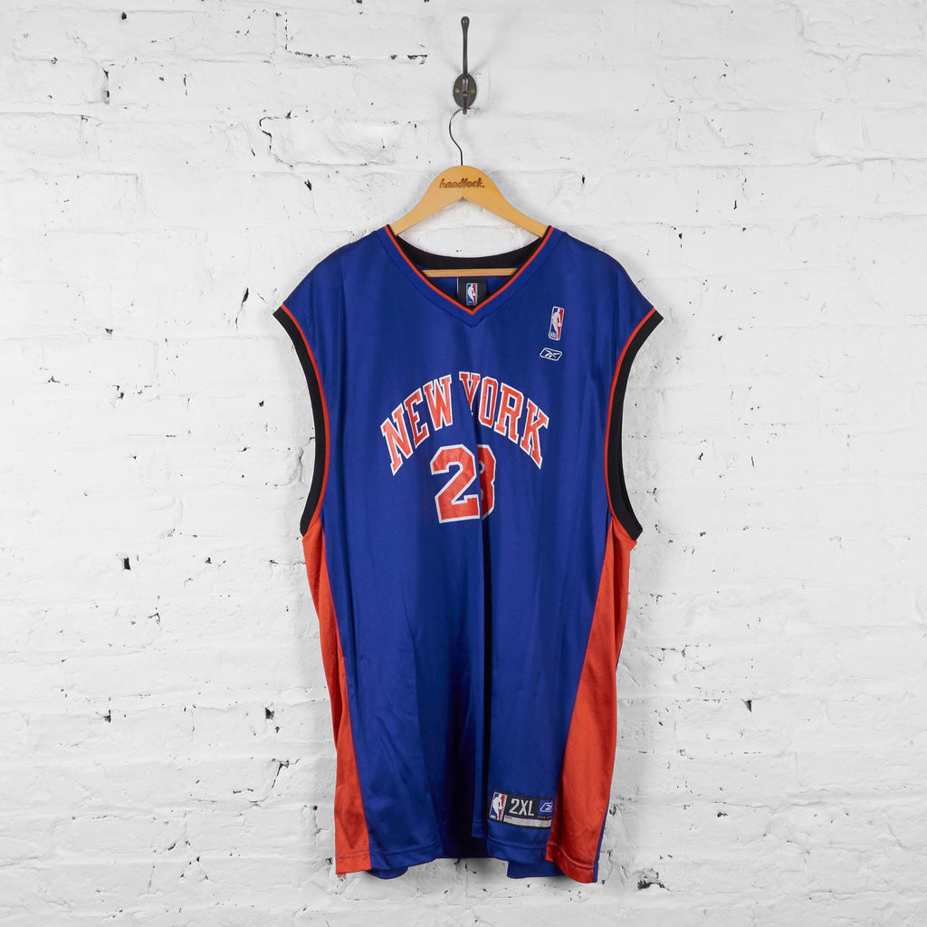 Vintage New York Knicks Basketball NBA Richardson Jersey - Blue/Orange - XXL - Headlock