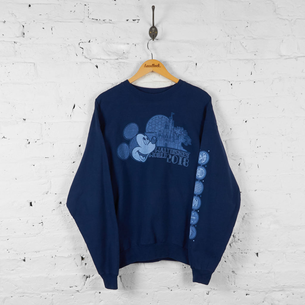 Walt Disney World 2018 Mickey Mouse Sweatshirt - Blue - L