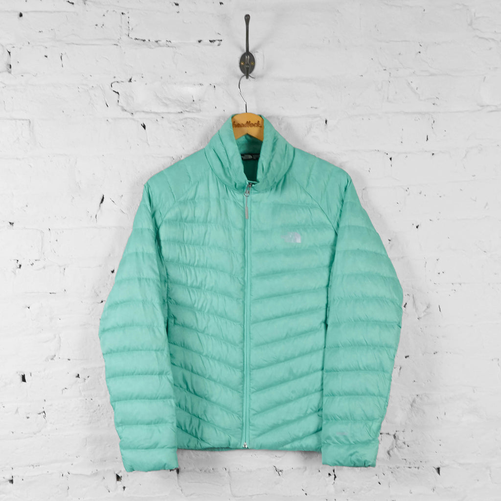 Vintage The North Face Puffer Jacket - Green - M - Headlock