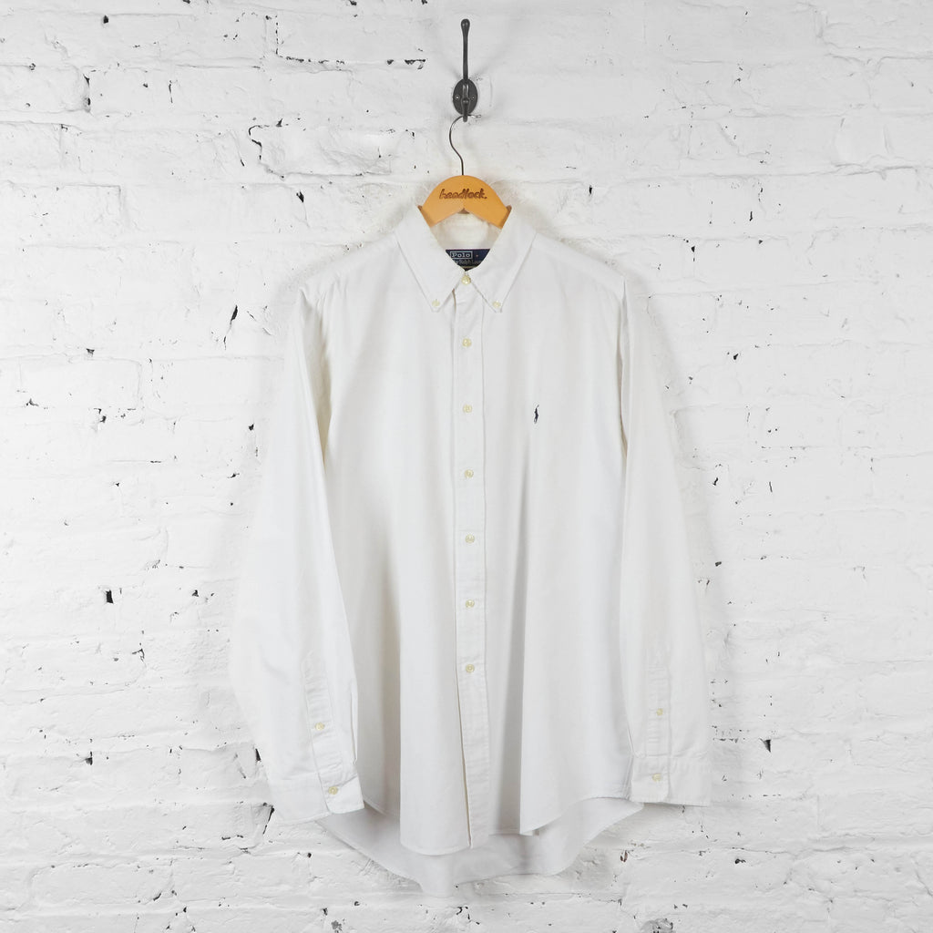 Vintage Ralph Lauren Shirt - White - XL - Headlock