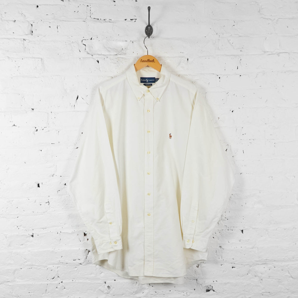 Vintage Ralph Lauren Shirt - Cream - XXL - Headlock