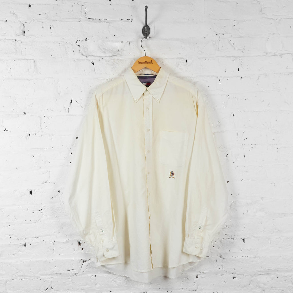 Vintage Tommy Hilfiger Shirt - Cream - XL - Headlock