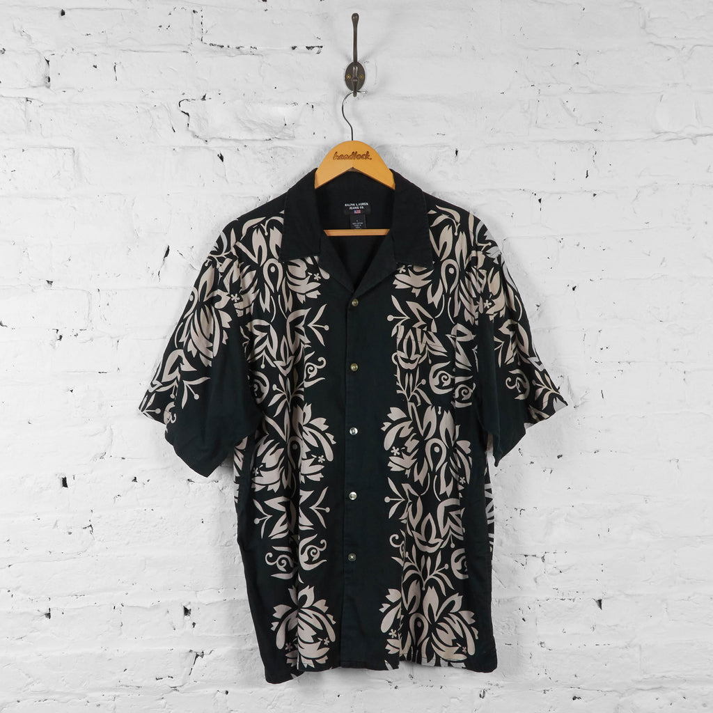 Vintage Ralph Lauren Pattern Shirt - Black - L - Headlock