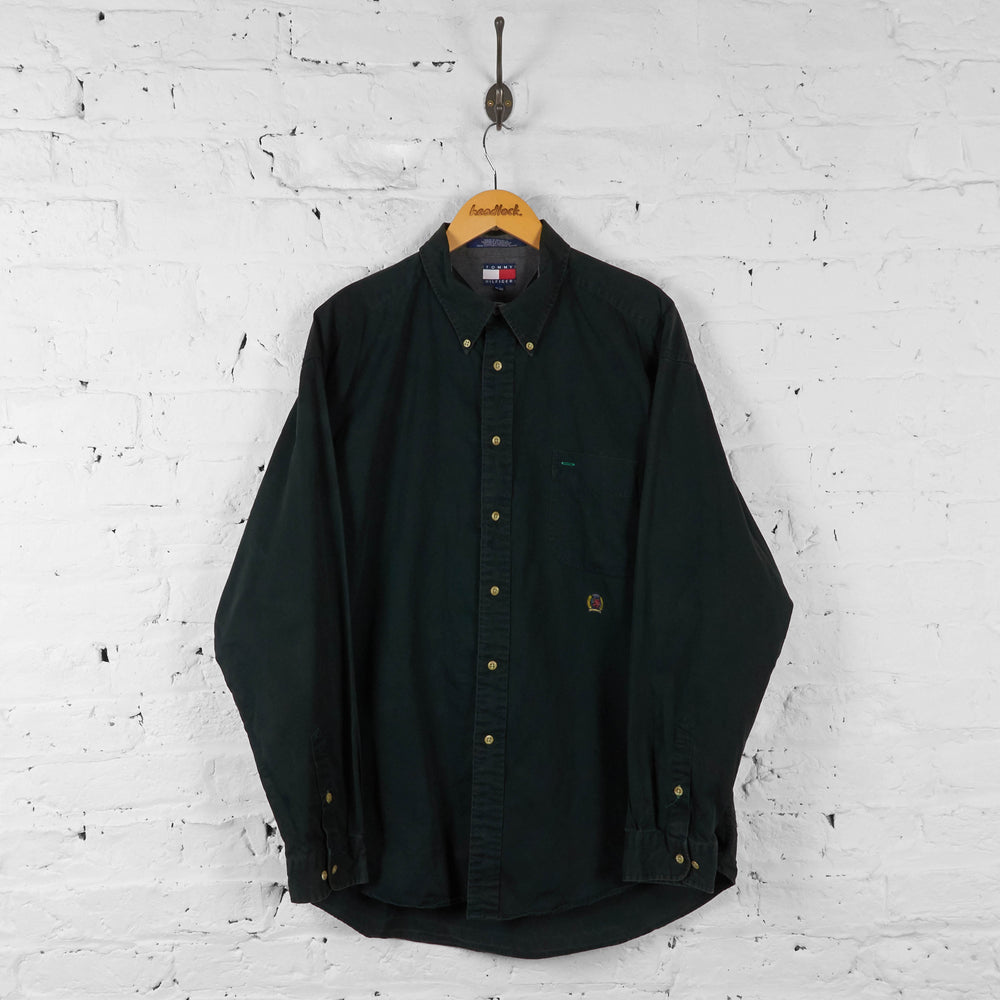 Vintage Tommy Hilfiger Shirt - Black - XL - Headlock
