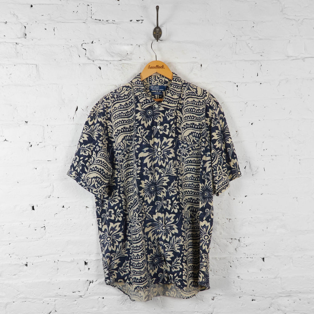 Vintage Ralph Lauren Pattern Shirt - Blue/White - XL - Headlock