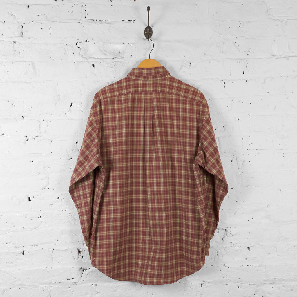 Vintage Ralph Lauren Checked Shirt - Brown - L - Headlock