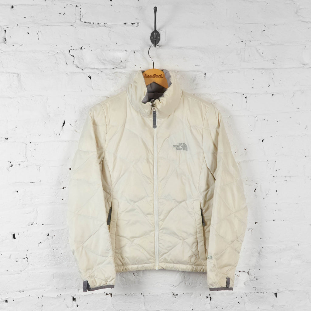 Vintage Women's The North Face Puffer Jacket - Cream - S - Headlock