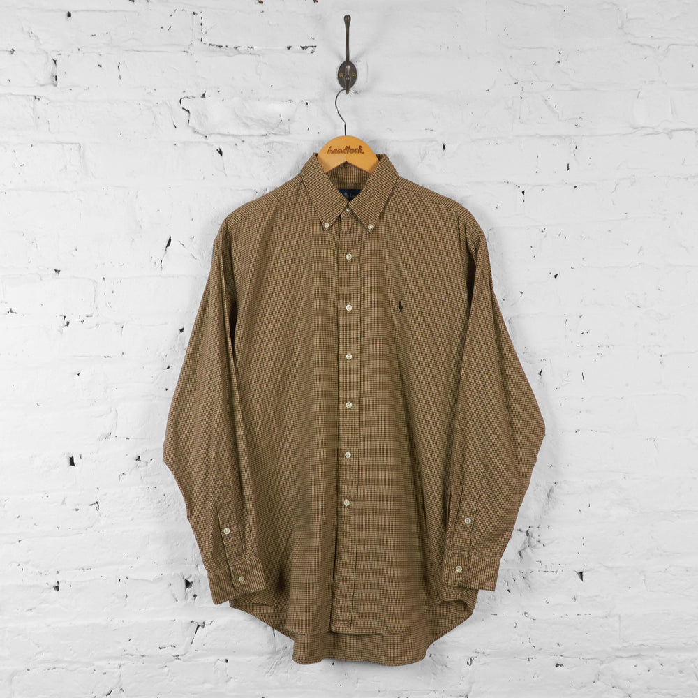 Vintage Ralph Lauren Shirt - Brown - M - Headlock