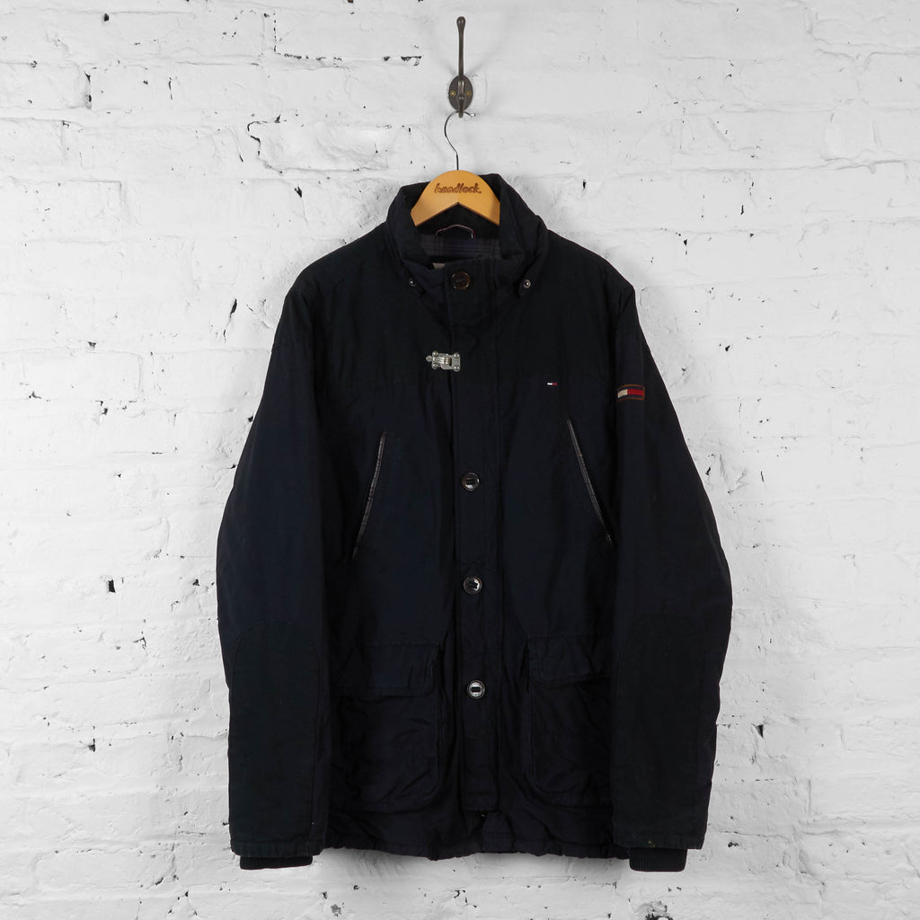 Vintage Tommy Hilfiger Denim Outdoor Jacket - Black - XL - Headlock