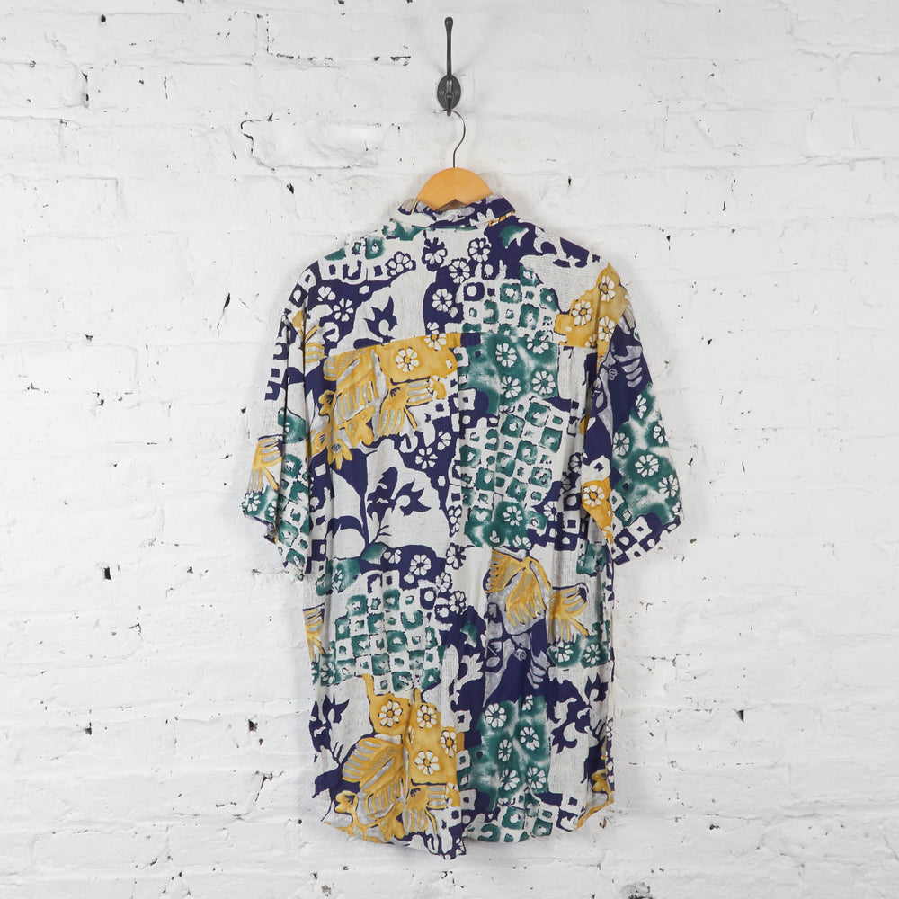 Vintage Floral Pattern Shirt - Multi - M - Headlock