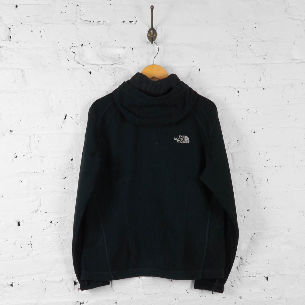 Womens Hooded The North Face Windwall Fleece - Black - Womens XL - Headlock