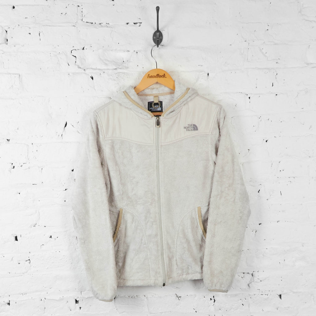 Womens Hooded The North Face Teddy Bear Fleece - Cream - Womens M - Headlock