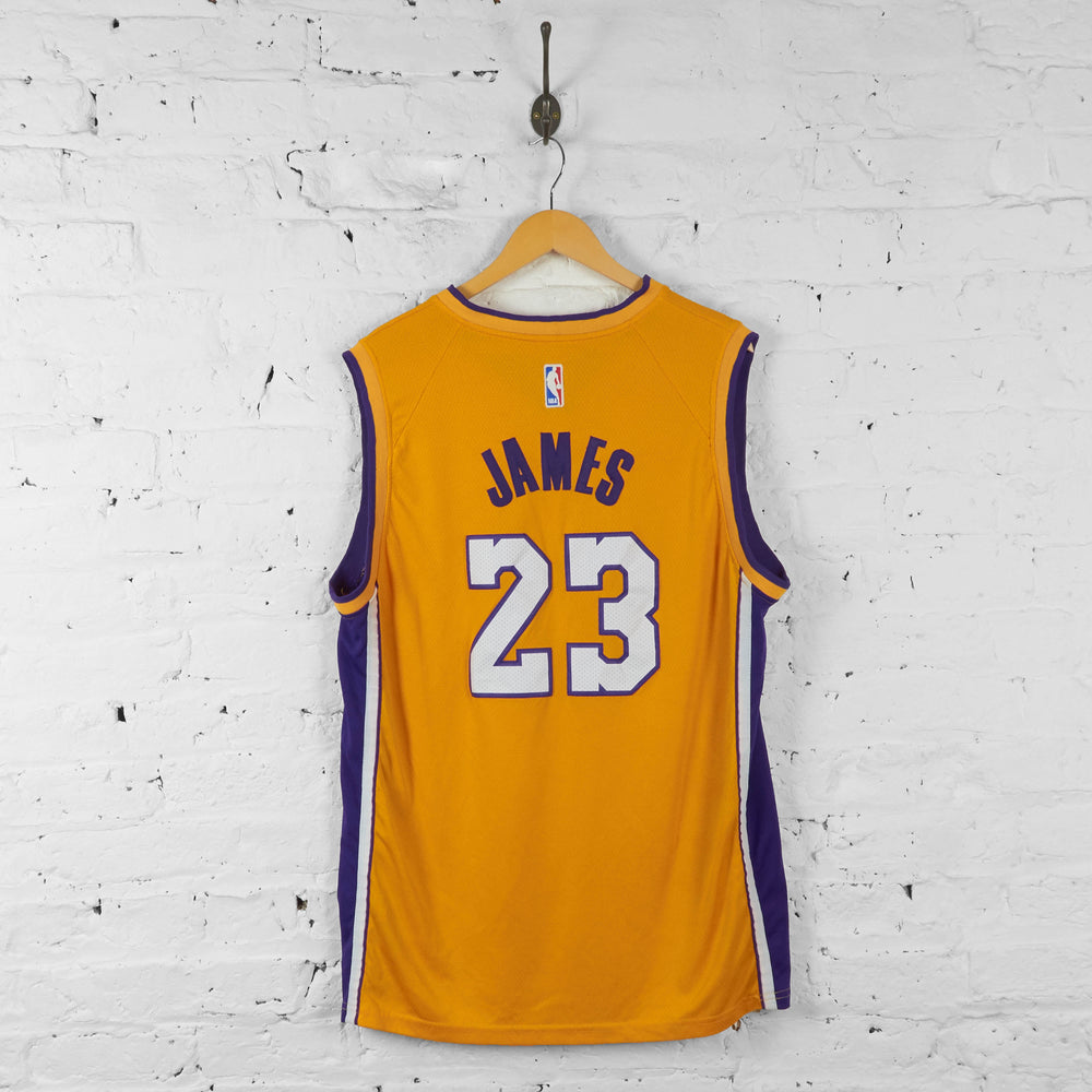 Vintage NBA LA Lakers James Jersey - Yellow/Purple - XL - Headlock