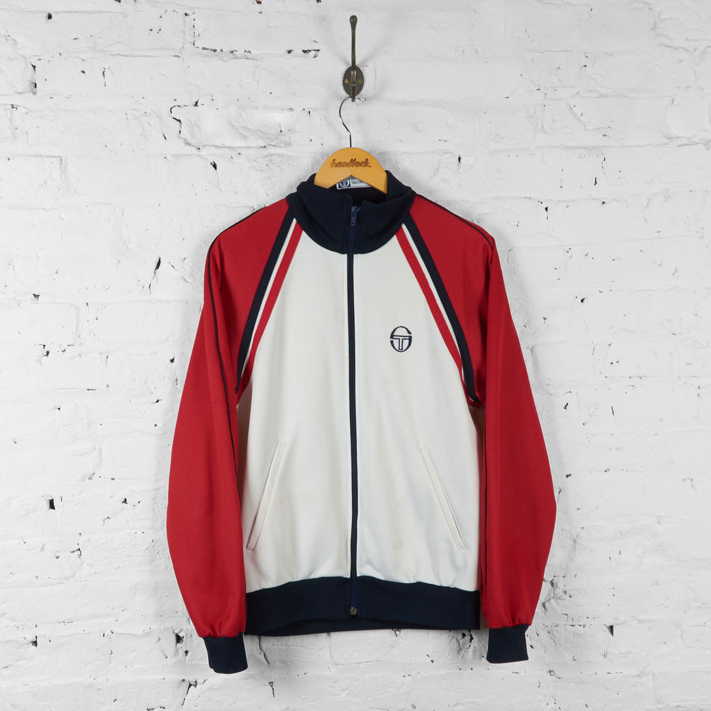 Vintage Sergio Tacchini Tracksuit Top - Red/White - S - Headlock