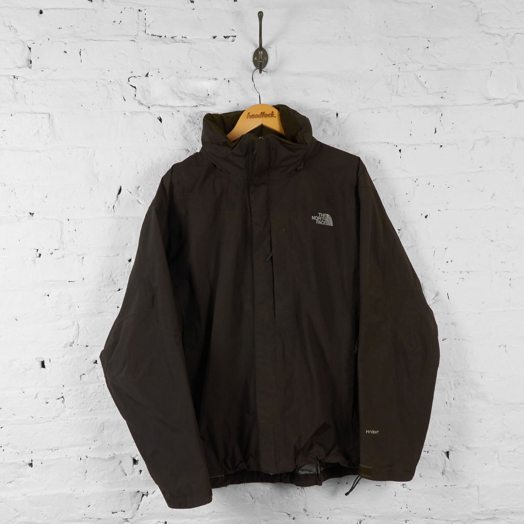 Vintage The North Face Hooded Jacket - Brown - L - Headlock