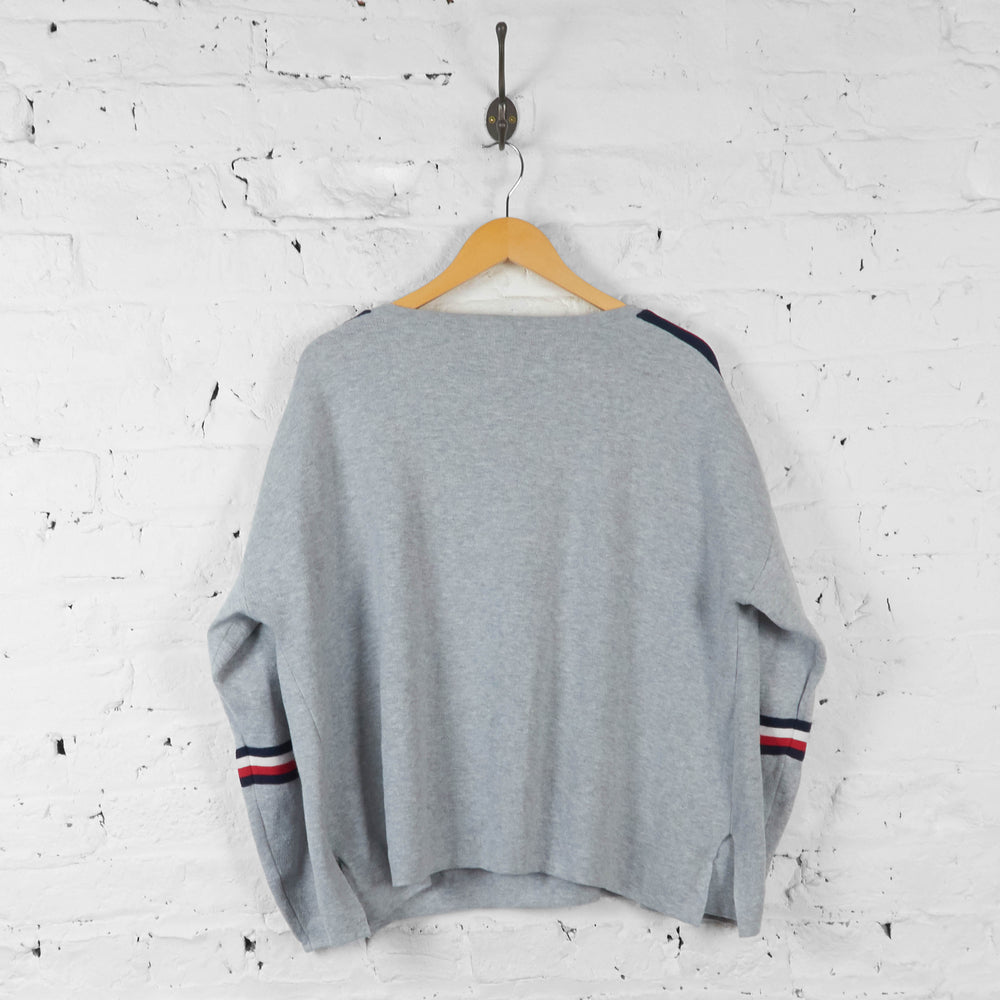 Vintage Tommy Hilfiger Sweatshirt - Grey - XL - Headlock