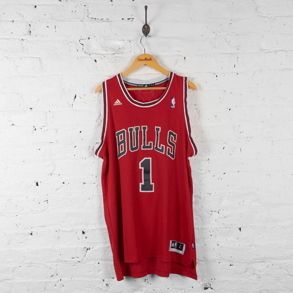 Vintage NBA Chicago Bulls 'Rose 1' Jersey - Red - L - Headlock
