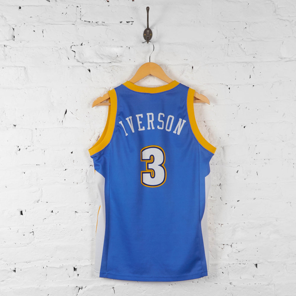 Vintage NBA Denver Nuggets 'Iverson 3' Jersey - Blue - S - Headlock