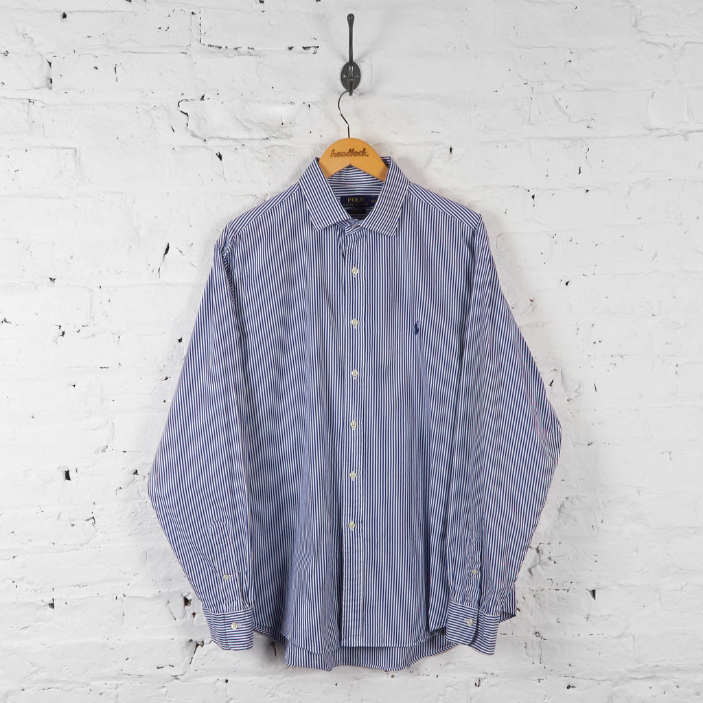 Vintage Ralph Lauren Striped Shirt - Blue/White - XL - Headlock