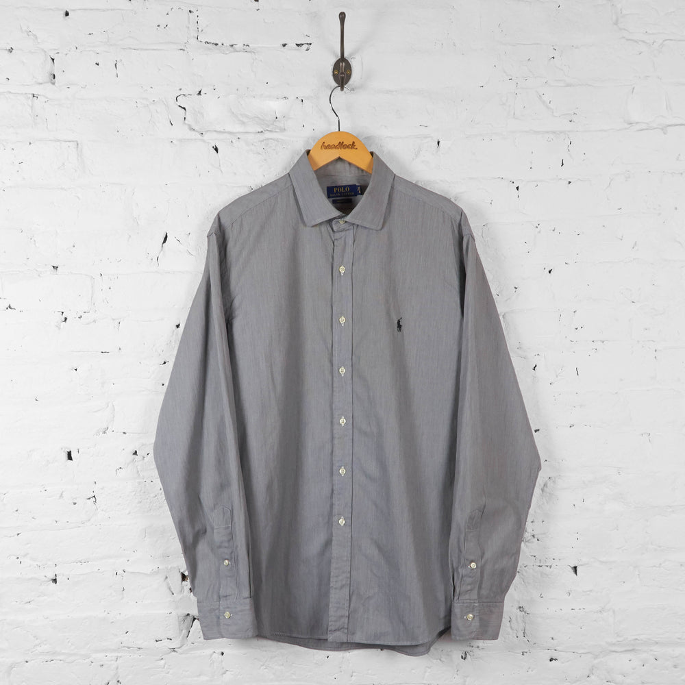 Vintage Ralph Lauren Striped Shirt - Grey - XL - Headlock