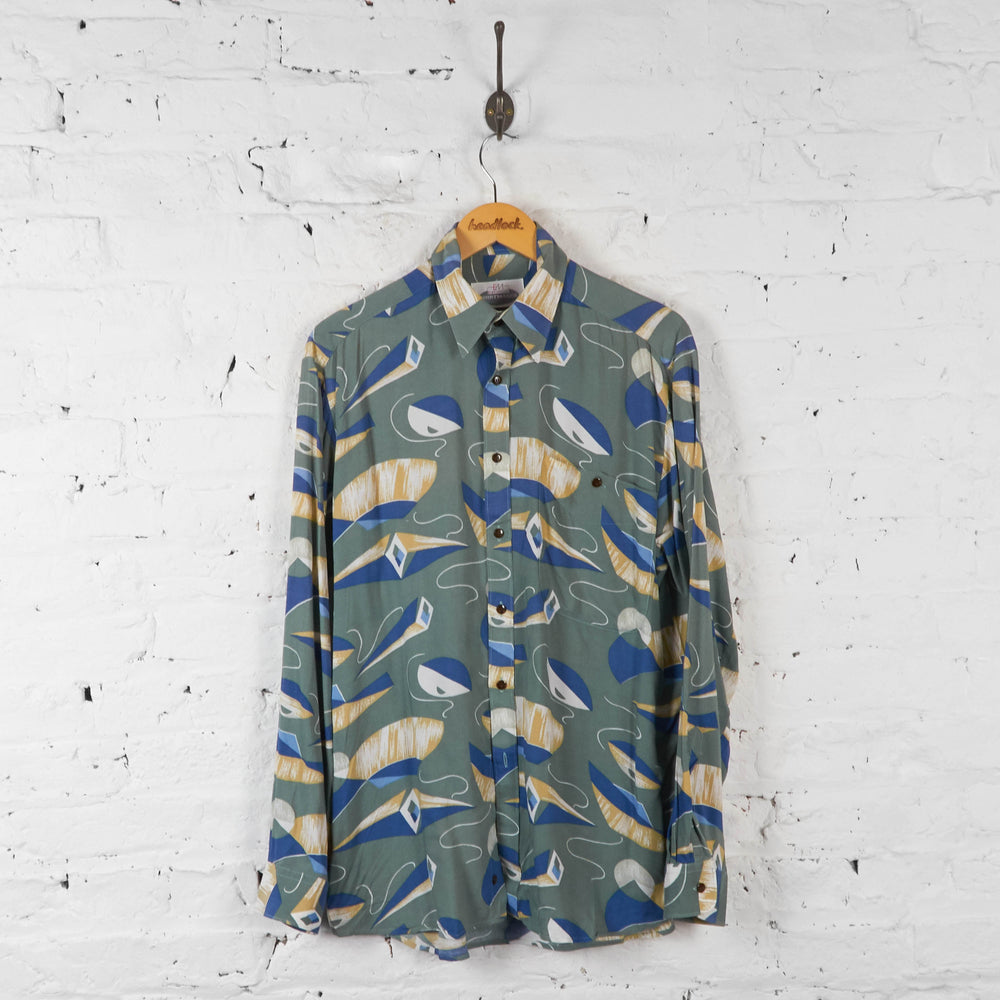 Vintage Shape Pattern Shirt - Blue - XL - Headlock