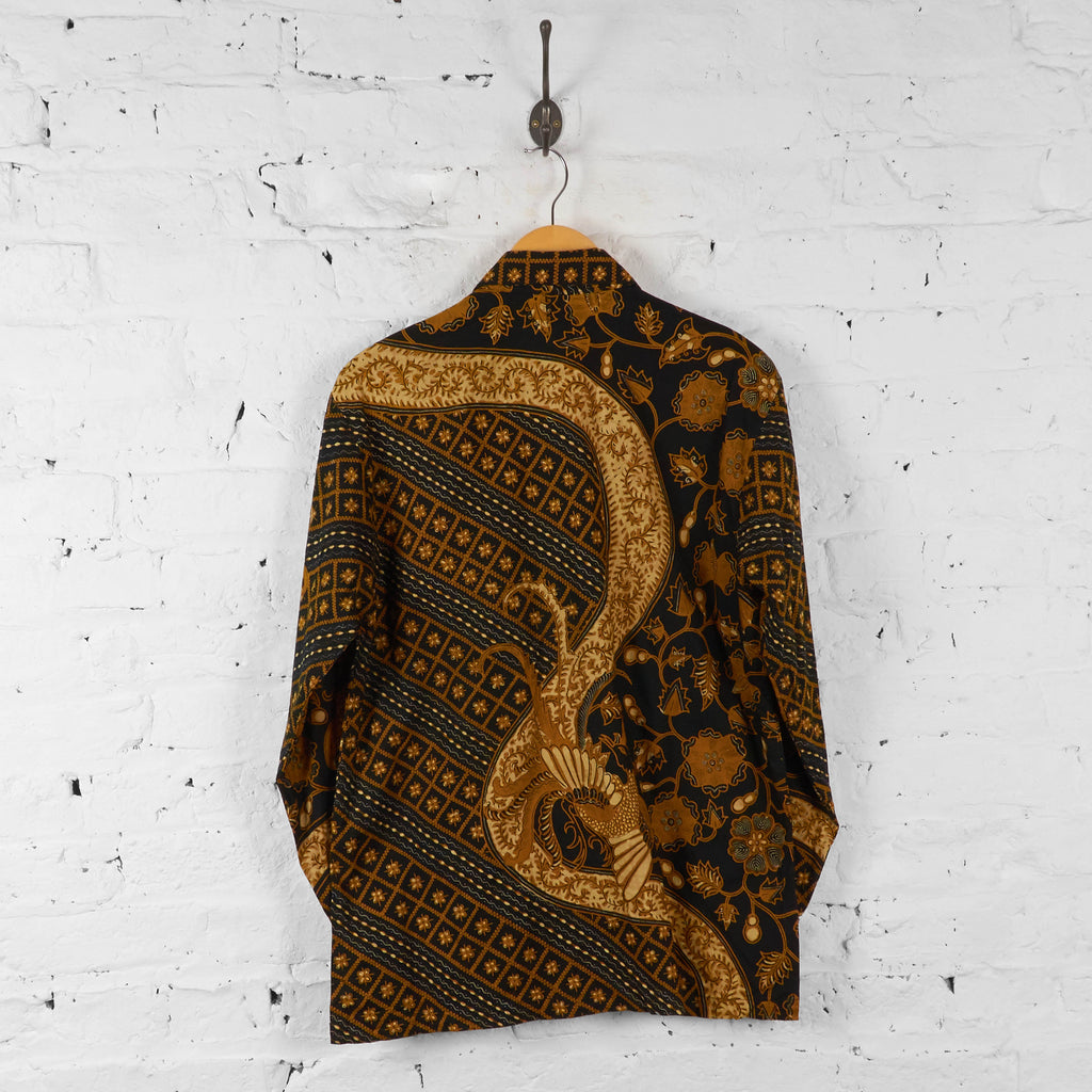 Vintage Pattern Shirt - Black/Gold - XL - Headlock
