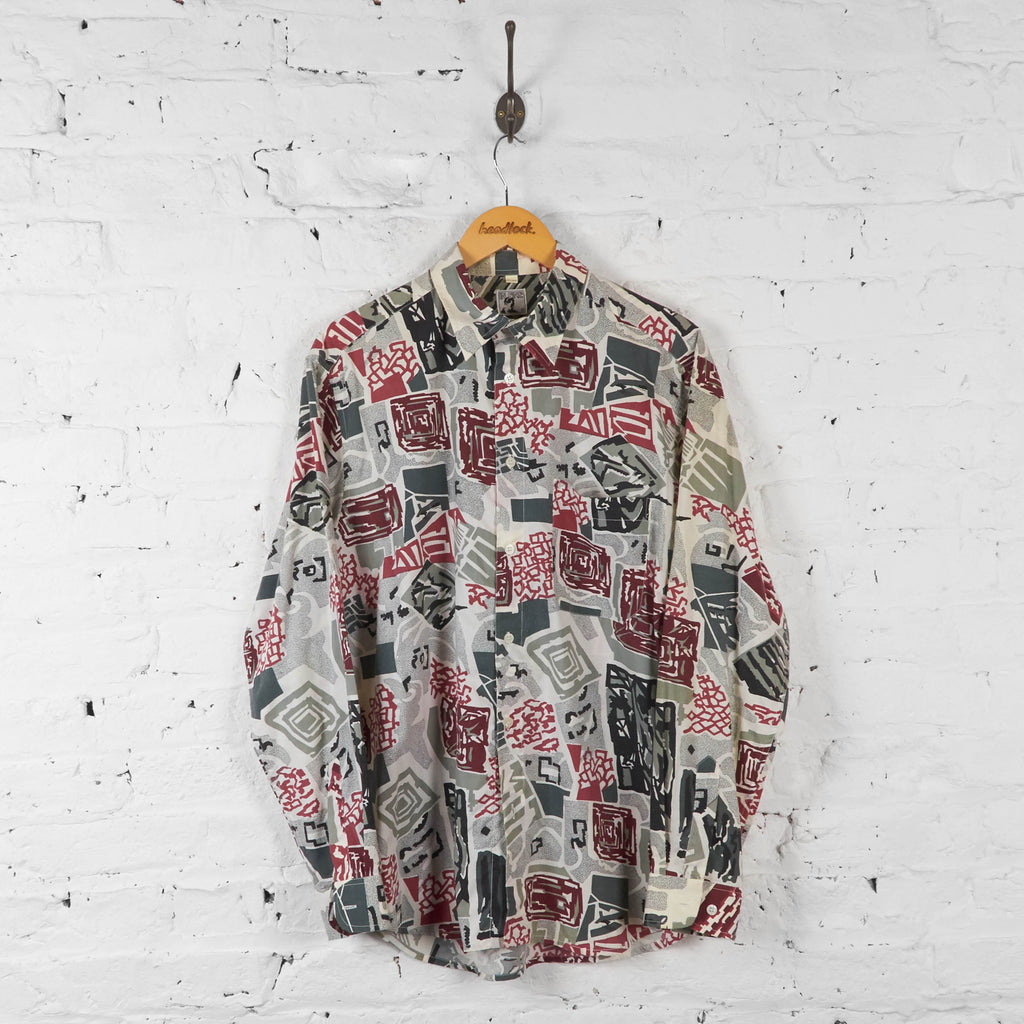 Vintage Square Pattern Shirt - Red - L - Headlock