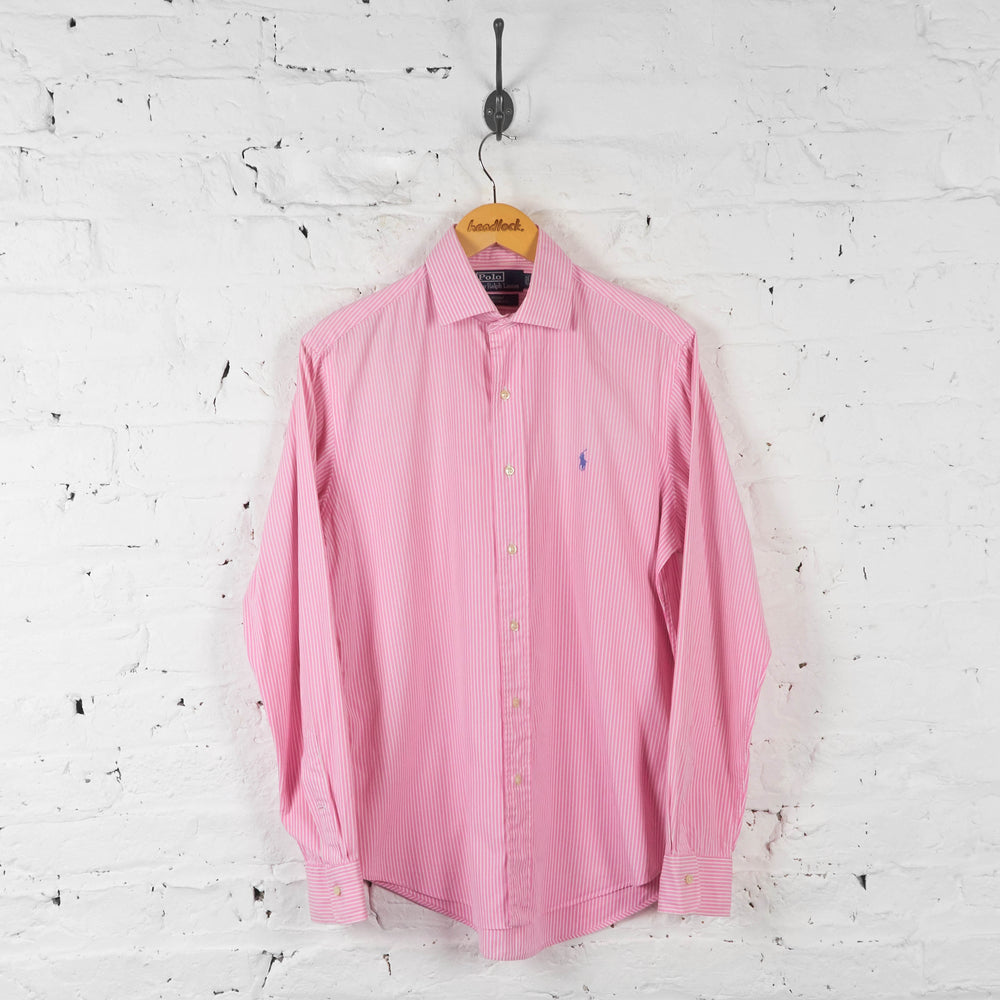 Vintage Ralph Lauren Striped Shirt - Pink - M - Headlock