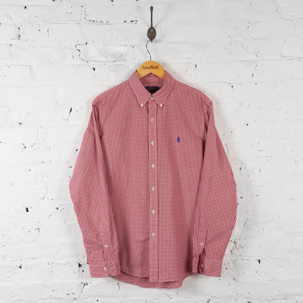 Vintage Ralph Lauren Checked Shirt - Red - L - Headlock