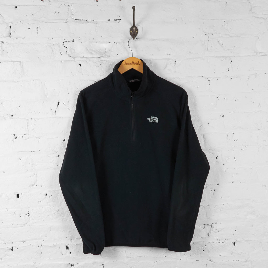 Vintage The North Face 1/4 Zip Up Fleece - Black - M - Headlock