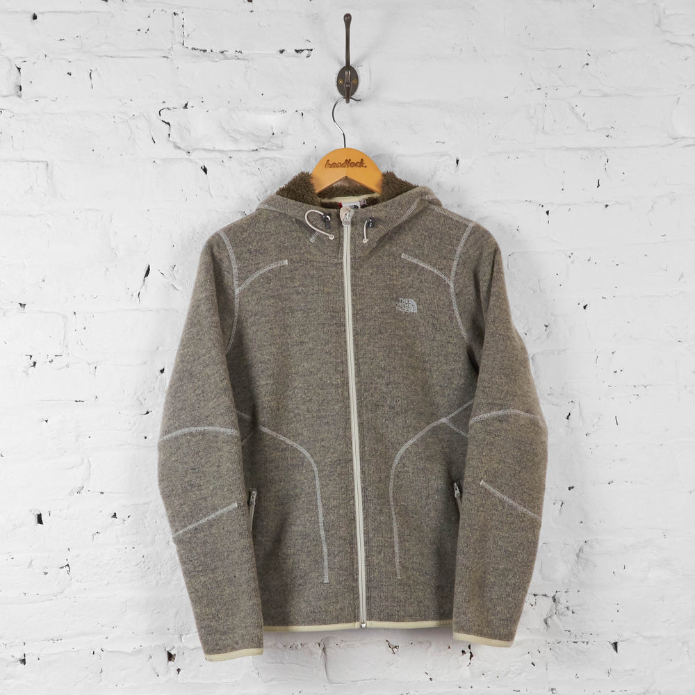 Vintage The North Face Fleece Lined Jacket - Grey - M - Headlock