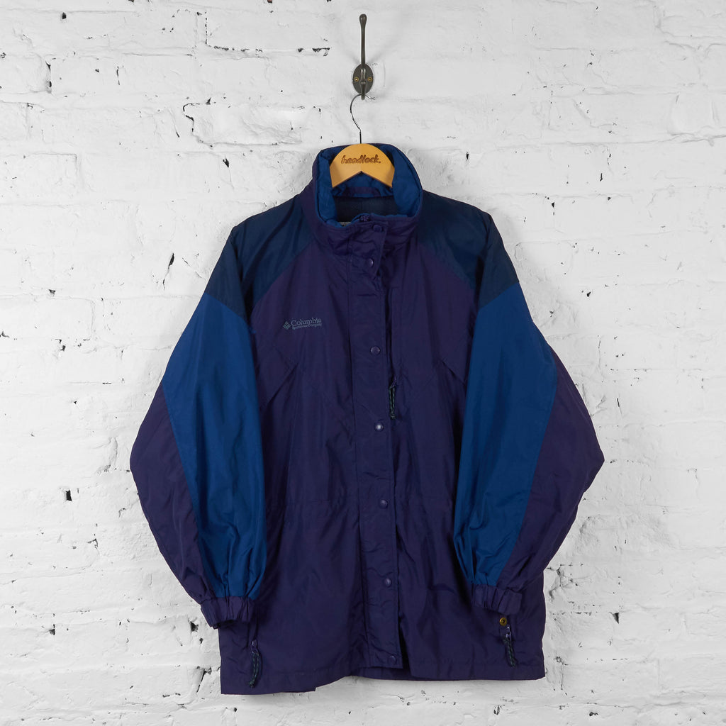 Womens Columbia Williawaw Rain Jacket - Purple - Womens L - Headlock