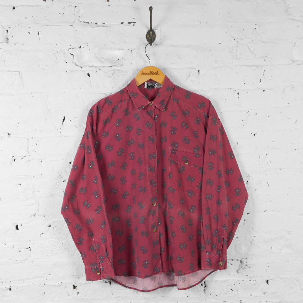 Womens Patterned Shirt - Red - Womens L - Headlock