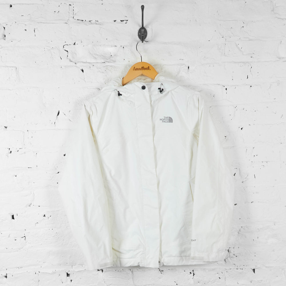 Womens The North Face Hyvent Rain Jacket - White - Womens S - Headlock