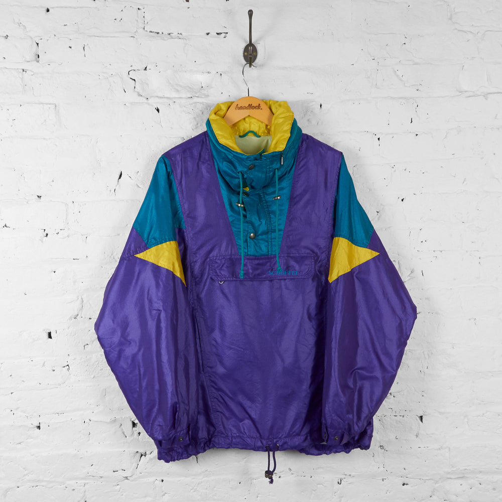 Vintage Schoffel 1/4 Button Up Tracksuit Top - Purple - L - Headlock