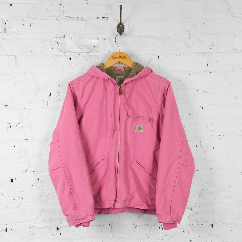 Womens Carhartt Hooded Jacket - Pink - Womens S - Headlock