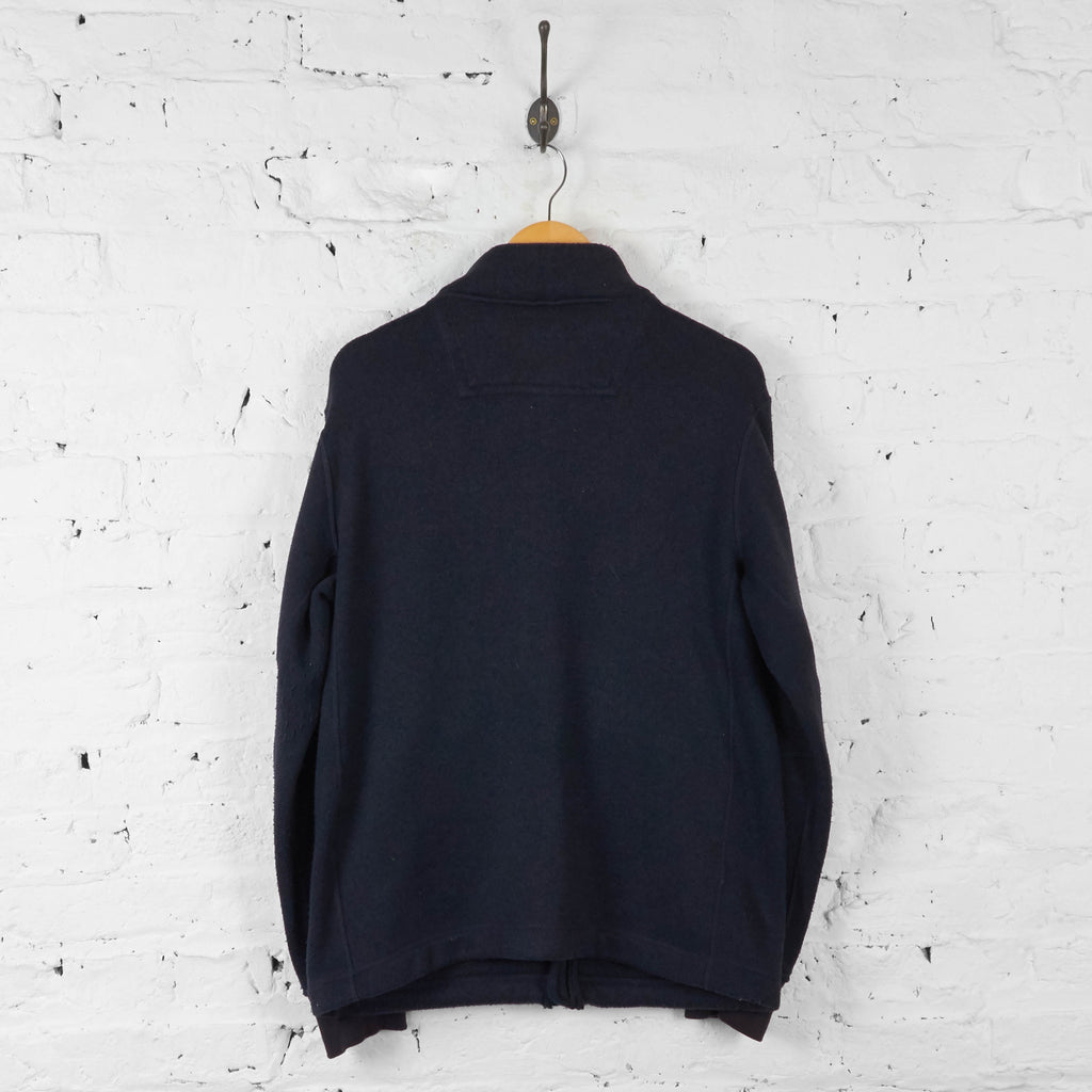 Vintage Timberland Knitted Zip Up Jacket - Navy - L - Headlock