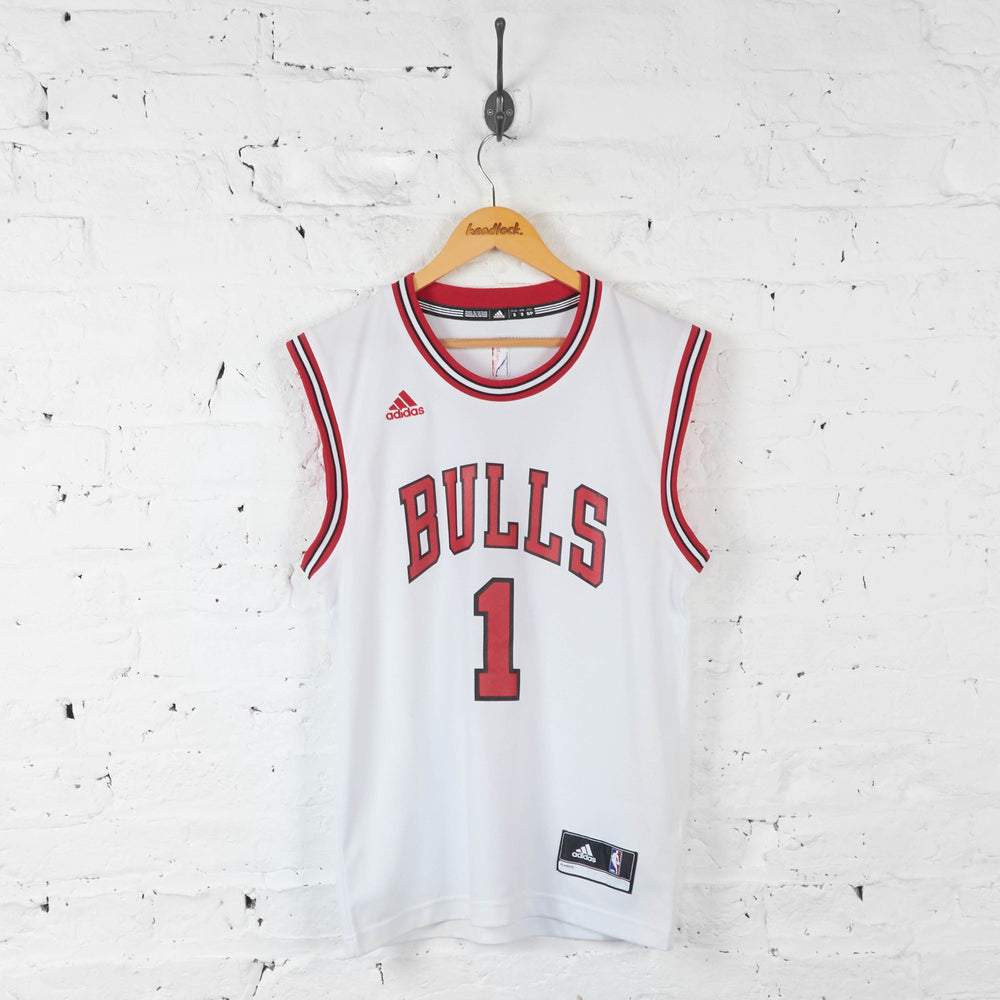 Vintage NBA Chicago Bulls 'Rose 1' Jersey - White - S - Headlock
