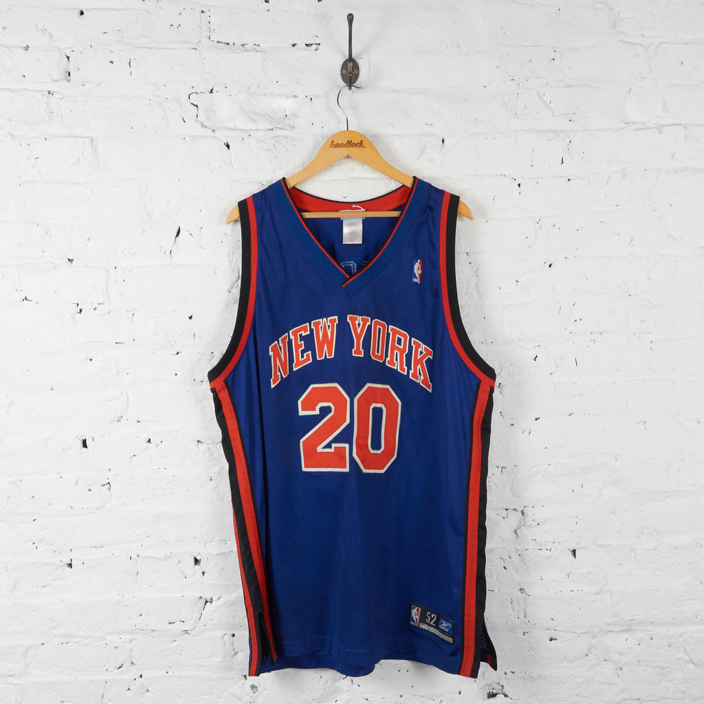 Vintage NBA New York Knicks 'Houston 20' Jersey - Blue/Orange - XL - Headlock