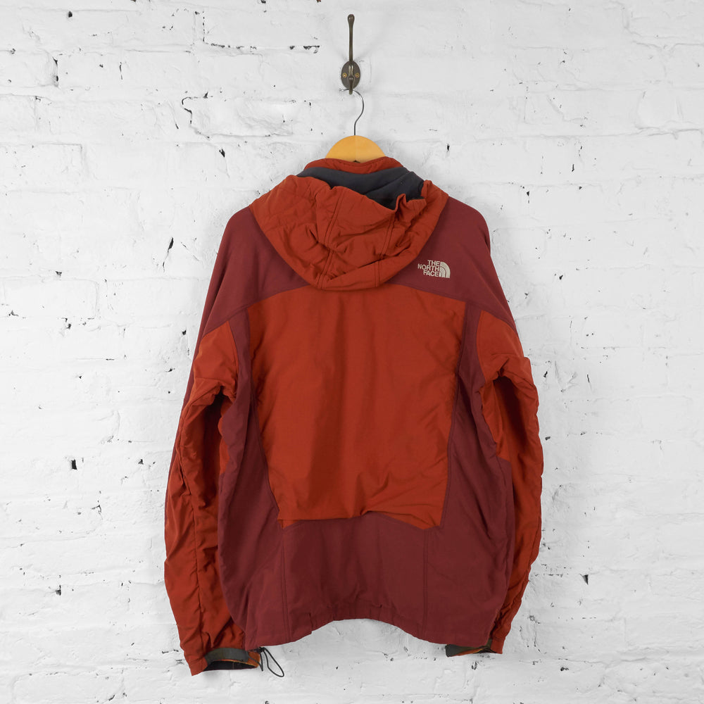 Vintage The North Face Hooded Jacket - Red/Orange - XL - Headlock
