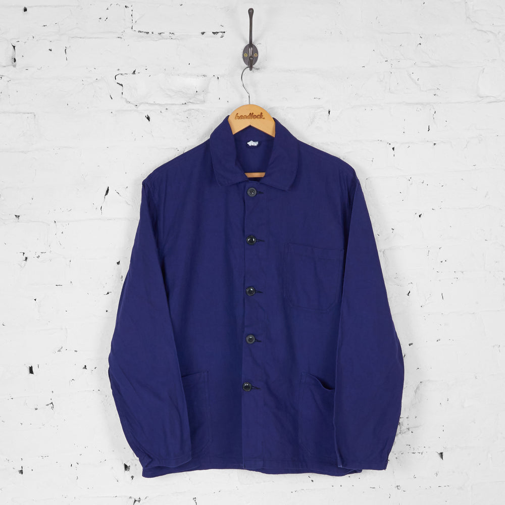 Worker Utility Chore Over Shirt - Blue - L