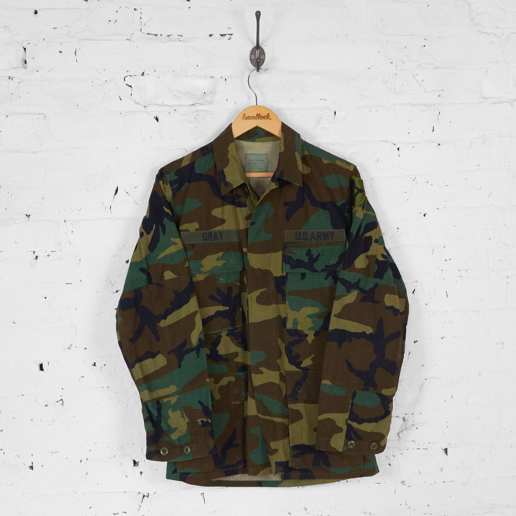 Military Camo Over Shirt - Green - S