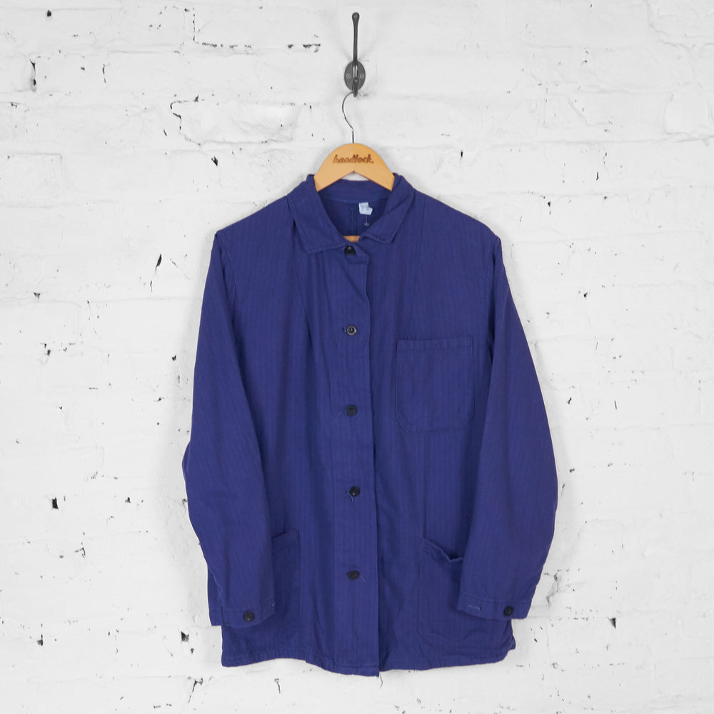 Worker Utility Over Shirt - Blue - M