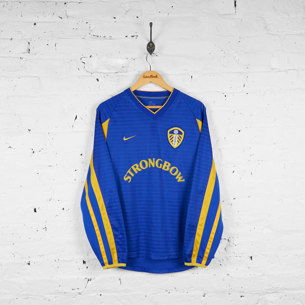 Vintage Leeds United Away 2001 Football Shirt - Blue - M