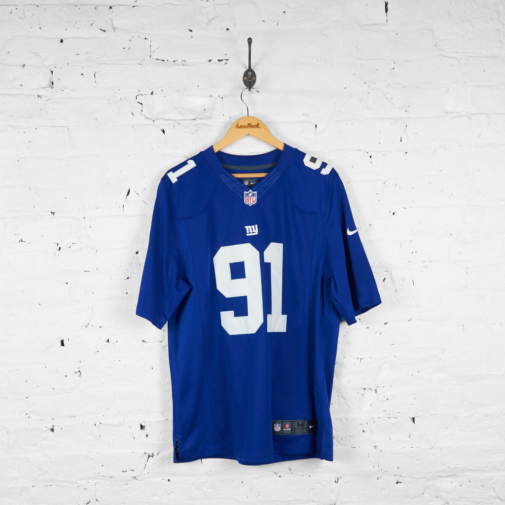 Vintage New York Giants Tuck NFL American Football Jersey - Blue - M - Headlock