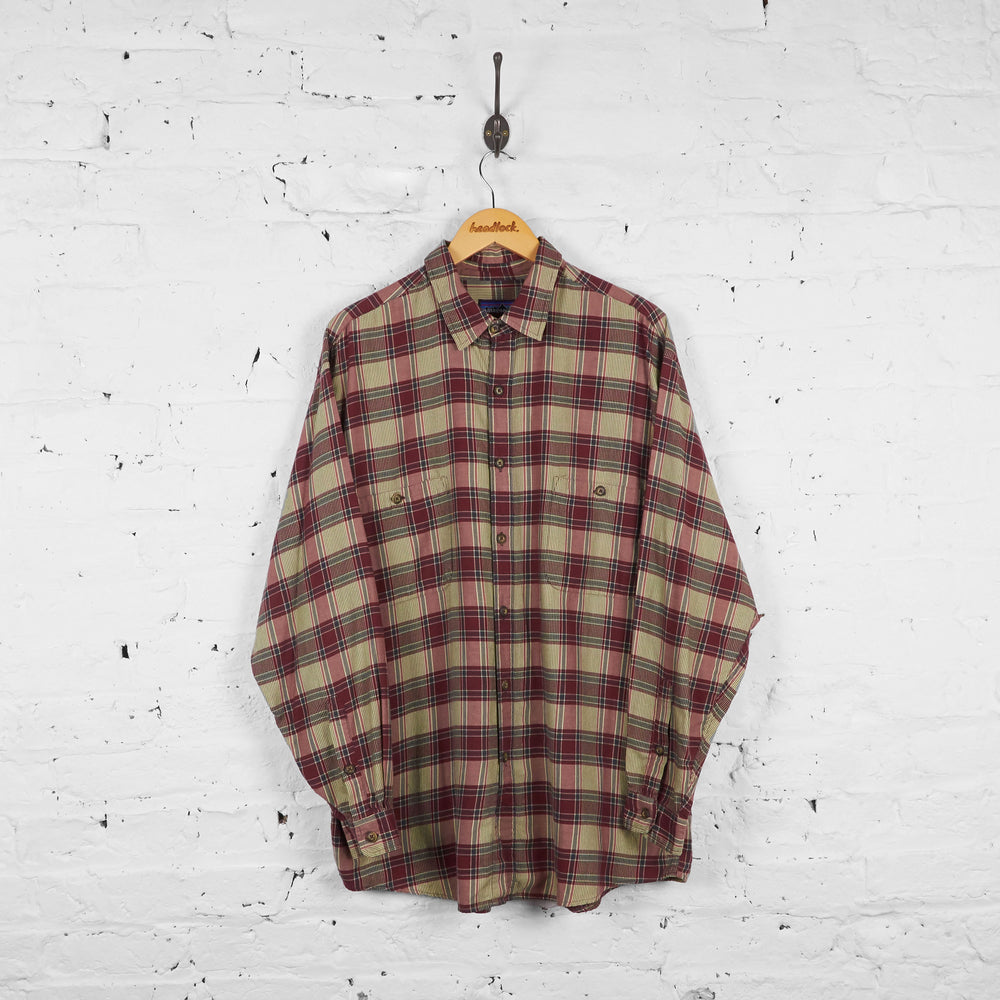Vintage Patagonia Checked Shirt - Red/Cream/Grey - L