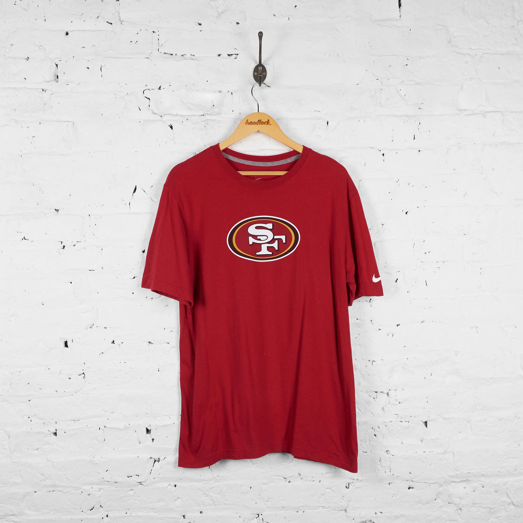 Vintage San Francisco 49ers Kaepernick T-shirt - Red - L - Headlock