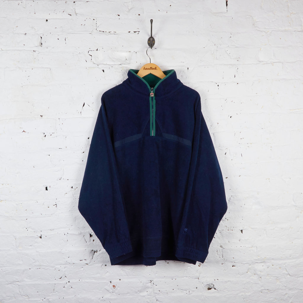 Vintage Fila 1/4 Zip Up Fleece - Navy - XL