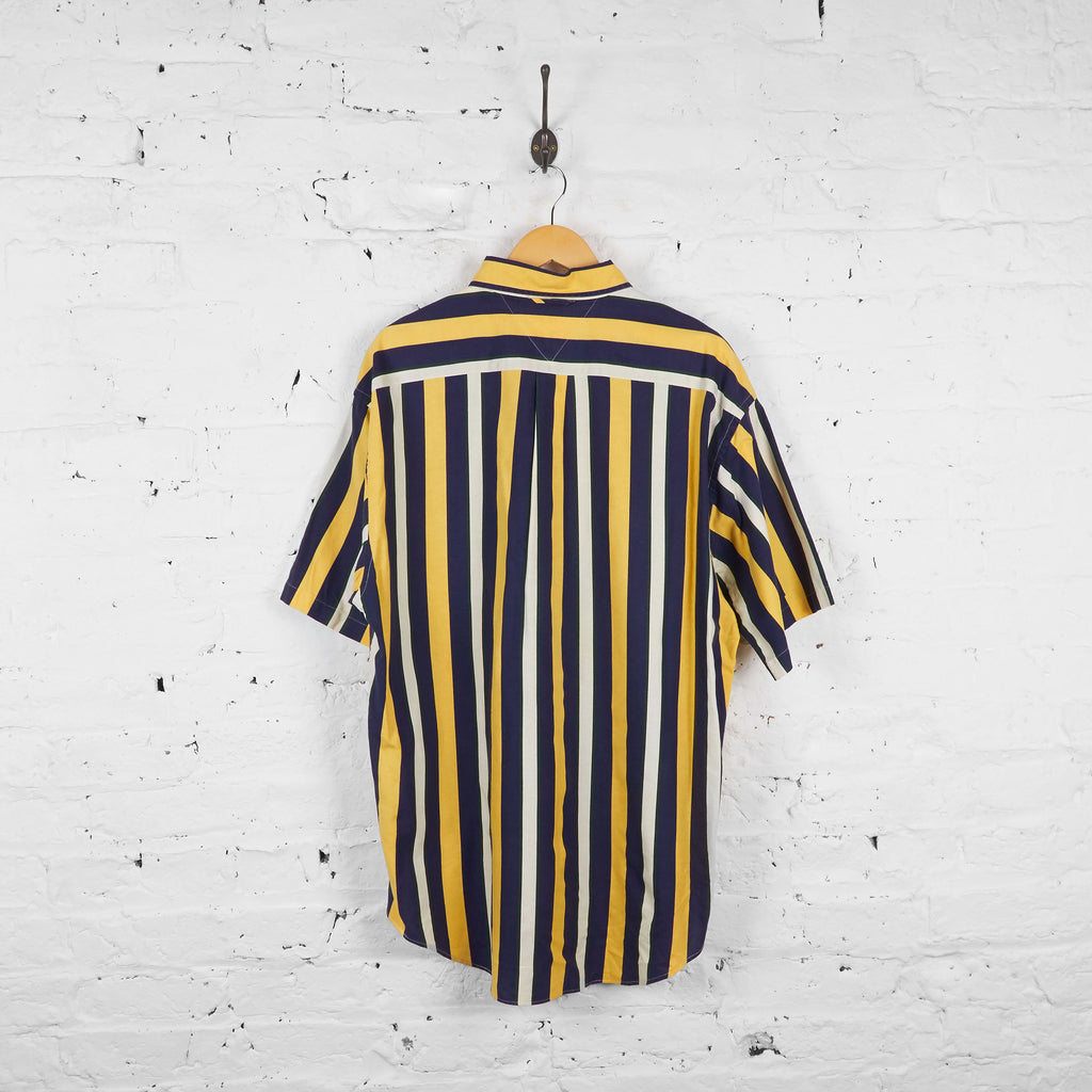 Vintage Tommy Hilfiger Striped Shirt - Yellow/Blue/White - XL - Headlock